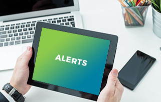 media center alerts