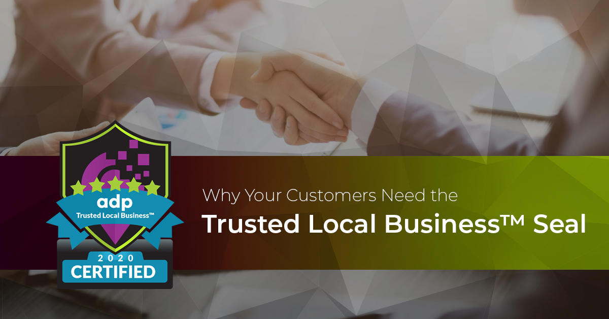 Promote a business with a trust seal.