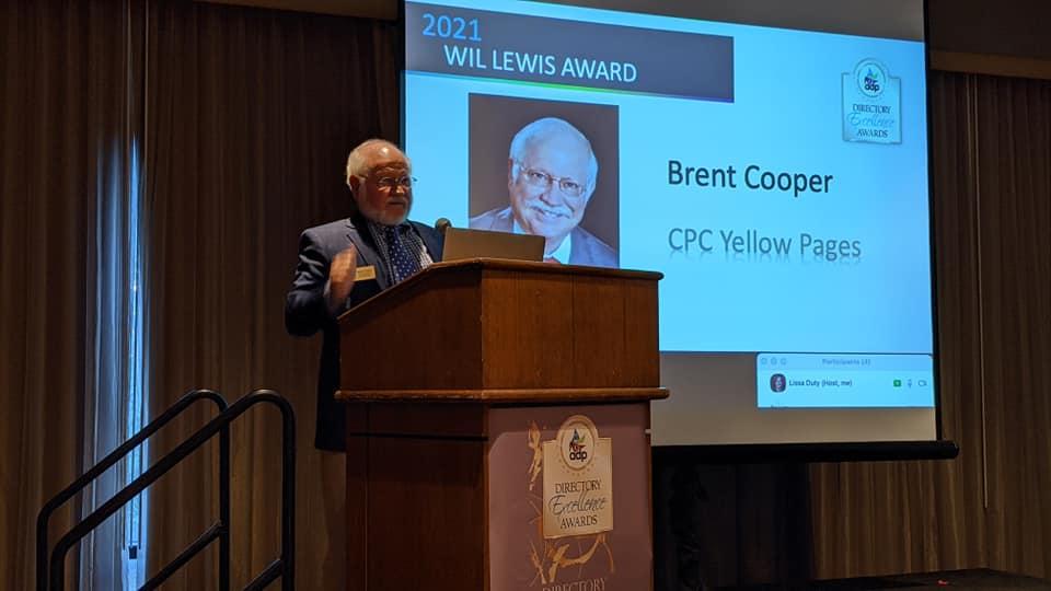 Brent Cooper, Wil Lewis Award Winner 2021 on Stage